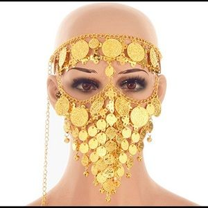 4/$25 SALE | Belly Dance Gold Head & Face Chain